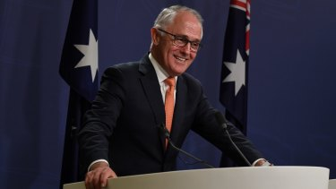 """""""It is vital that this parliament work"""": Malcolm Turnbull claims election victory in Sydney on Sunday."""