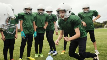 Next generation:  The NSW Gridiron under 8 team at training this week.