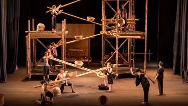 Bamboo and circus tricks combine in A O Lang Pho.