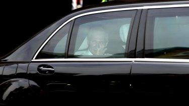 Heading off: Vladimir Putin departs the Hilton Hotel after his G20 visit to Brisbane.