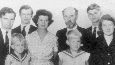 The Clark family in 1962, including Katerina (far right).