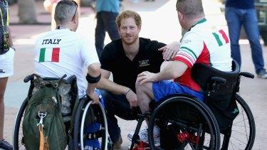 Prince Harry at the 2016 Invictus Games in Orlando, Florida.
