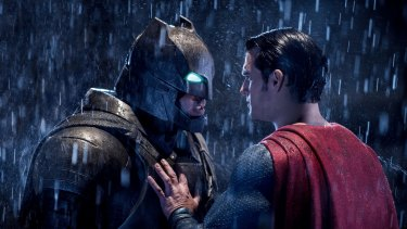 Ben Affleck with Henry Cavill in 'Batman v Superman: Dawn of Justice'.