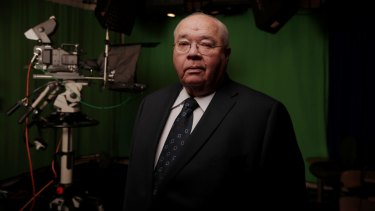 Laurie Oakes at Parliament House after announcing his retirement this week.