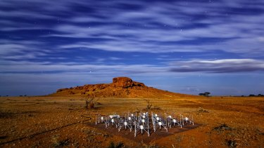 """One of the 128 radio telescope """"tiles"""" at the Murchison Wide Field Array radio telescope in Western Australia, which is helping to reveal the great secrets of the Universe."""