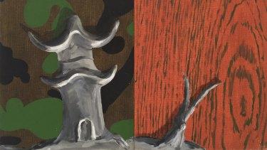 Tony Clark's Chinoiserie landscape, 1987 (detail).