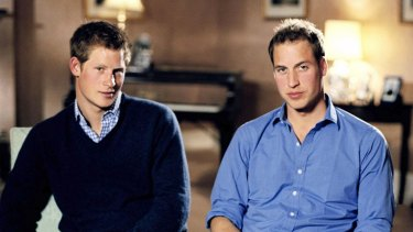 Princes Harry and William on the tenth anniversary of their mother's death.