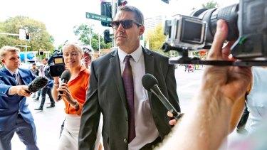 Shane Anthony Day outside court on Friday.