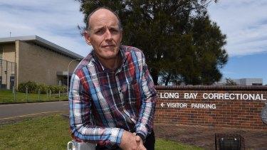 Corrective Services Teachers Association representative and teacher Daniel Conlon outside Long Bay jail.