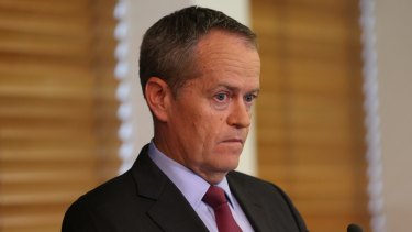 Opposition Leader Bill Shorten during a press conference to announce the decision at Parliament House on Tuesday.