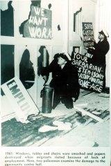 A migrant riot at Bonegilla in 1961.