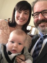 The author, Andrew P Street, with his wife Dee and son James.
