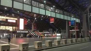 Anti-terror bollards have been installed around Southern Cross Station.