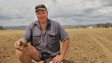 Scott Flinn on his property, Karingle, near Tamworth.