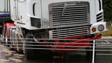 """""""It appears that the truck may have run over the sedan"""": Nowra police Inspector Deborah O'Reilly."""