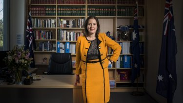 Kelly O'Dwyer Minister for Small Business and Assistant Treasurer says cabinet meetings are longer now more women are involved. Photo: Josh Robenstone