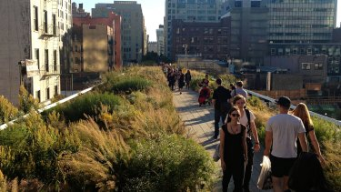 "The ""High Line"" built on a disused rail line has become one of the top visitor attractions in New York."