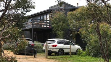The Curry's holiday home in Aireys Inlet.