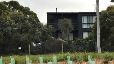 The Aireys Inlet holiday home where Elisa Curry was last seen on Saturday night.