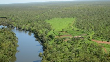 The 705,000-hectare Wollogorang and Wentworth cattle station on the shores of the Gulf of Carpentaria.