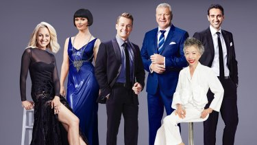Nominees for the 2016 TV Week Gold Logie: (from left) Carrie Bickmore, Essie Davis, Grant Denyer, Scott Cam, Lee Lin Chin and Waleed Aly.