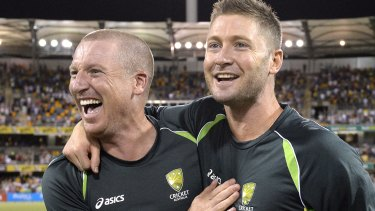 Protagonists: Michael Clarke says he was left out of a meeting of senior players to discuss Brad Haddin's Test dumping.