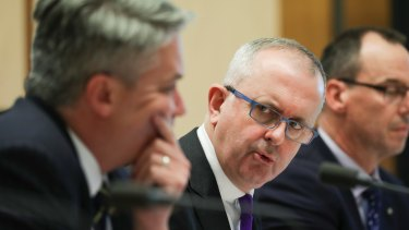 Cormann and Rogers in estimates just now.