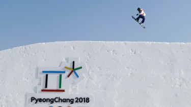 A snowboarder trains ahead of the 2018 Winter Olympics in PyeongChang, South Korea.