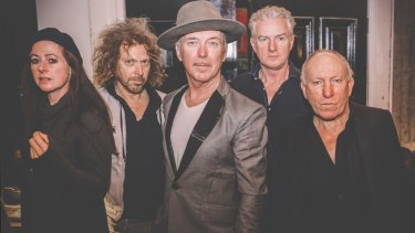 From left Max Sharam, Kim Salmon, Dave Graney, Mick Harvey and Ron S. Peno are all keen to bring something new to <i>Bowie in Berlin</i> while remaining faithful to the original work.