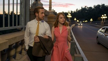 Sebastian (Ryan Gosling) and Mia (Emma Stone) in director Damien Chazelle's second film after <i>Whiplash</i>.