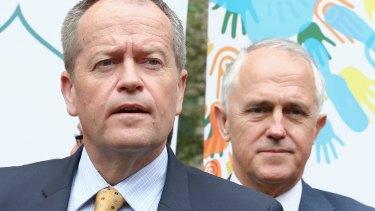 Bill Shorten and Malcolm Turnbull  – two aggressive centrists.