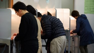 Voters went to the polls in Japan on Sunday.