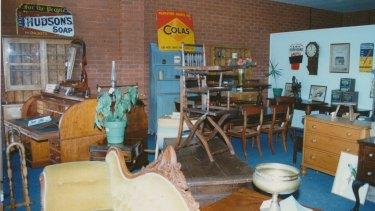The Mildura antique shop used in a police undercover investigation into the local Mafia.