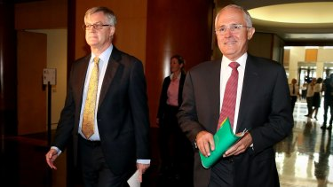 Martin Parkinson and Prime Minister Malcolm Turnbull.
