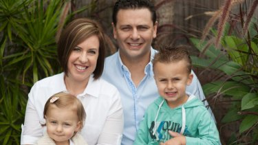 Family man: Todd Carney lives in Mulgoa with his wife and two children.