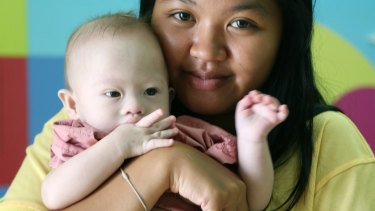 Thai surrogate mother Pattharamon Janbua with baby Gammy.