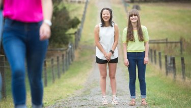 An exciting road ahead: Tintern Schools' Moya Zhang received a perfect result, while schoolmate Olympia Sarris was thrilled with her score of 42.