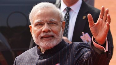 On the grow: Indian Prime Minister Narendra Modi.
