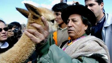 Then Peruvian president Alejandro Toledo at Chakku ceremony in Peru in 2003.
