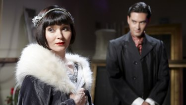 Essie Davis as Miss Phryne Fisher in the ABC series Miss Fisher's Murder Mysteries.