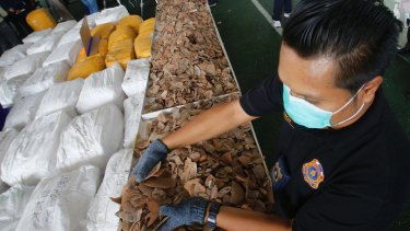 Thai Customs officers seized almost three tons of African pangolin scales in February - their biggest haul ever.