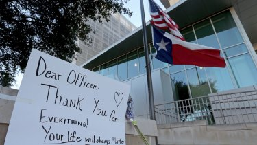 A tribute for Benjamin Marconi, who was fatally shot in San Antonio.
