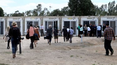 Shipping containers being used as cells at the Dhurringile Prison near Shepparton to relieve the pressure of overcrowding in Victoria's prisons.