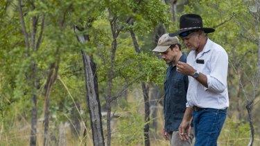 Olkola elder Michael Ross and the Australian Conservation Foundation's Andrew Picone in Olkola country.