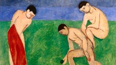Henri Matisse's Game of Bowls, detail (1908).