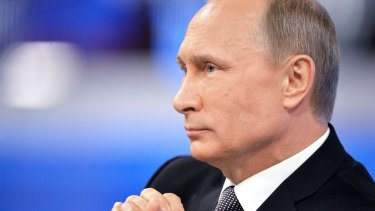 "Russian President Vladimir Putin: ""This is not the first political assassination. Ukraine is dealing with a whole string of such murders."""