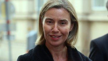 EU foreign policy chief Federica Mogherini.