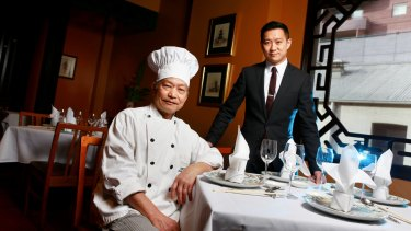Father and son team of the Flower Drum restaurant, Jason and Anthony Lui. 15 August 2013. The Age Sat News.