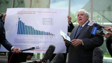"""Now, allow me illustrate the political fortunes of Palmer United with the following graph…"""