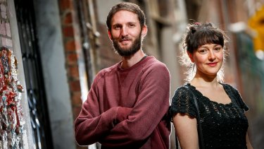The 2016 Sydney Morning Herald Best Young Australian Novelists, Murray Middleton and Abigail Ulman.
